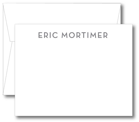 Classic Notecard - Name Modern Print (click for more colors options)