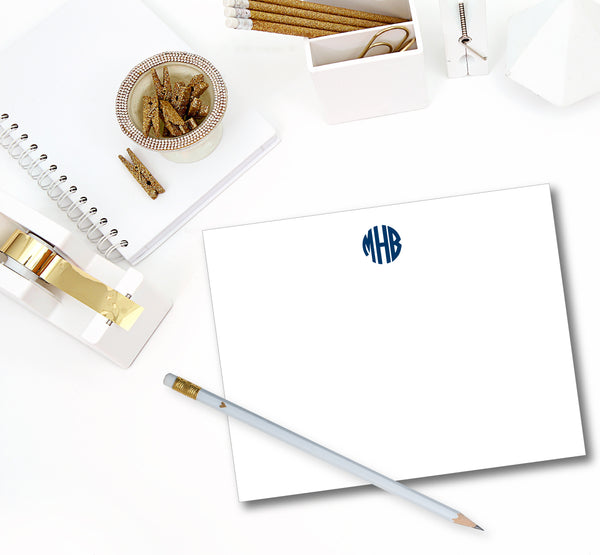 Classic Monogram Notecard - Circle (click for more colors options)