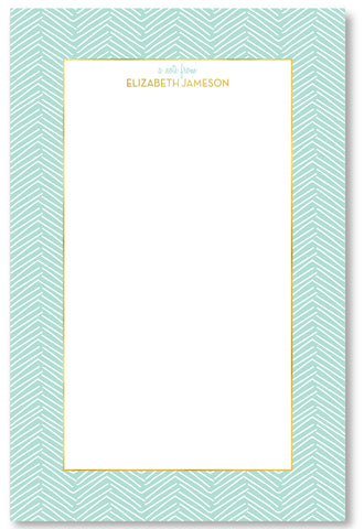 Notepad - Herringbone Mint