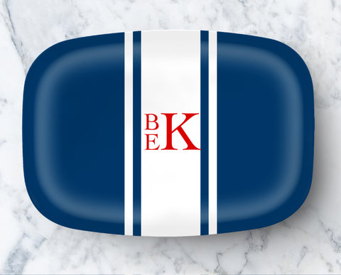 Copy of Platter - Racing Stripe White Stripes (click for more colors)
