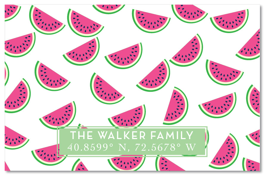 Cutting Board - Watermelon Print