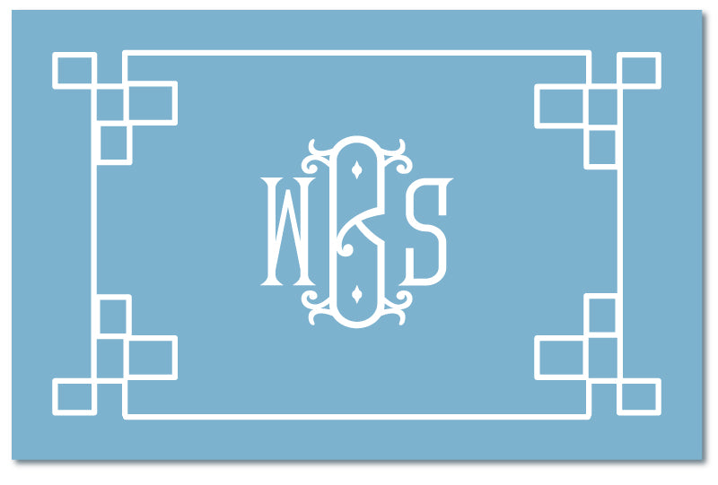 Cutting Board - Fretwork Border Choose Color