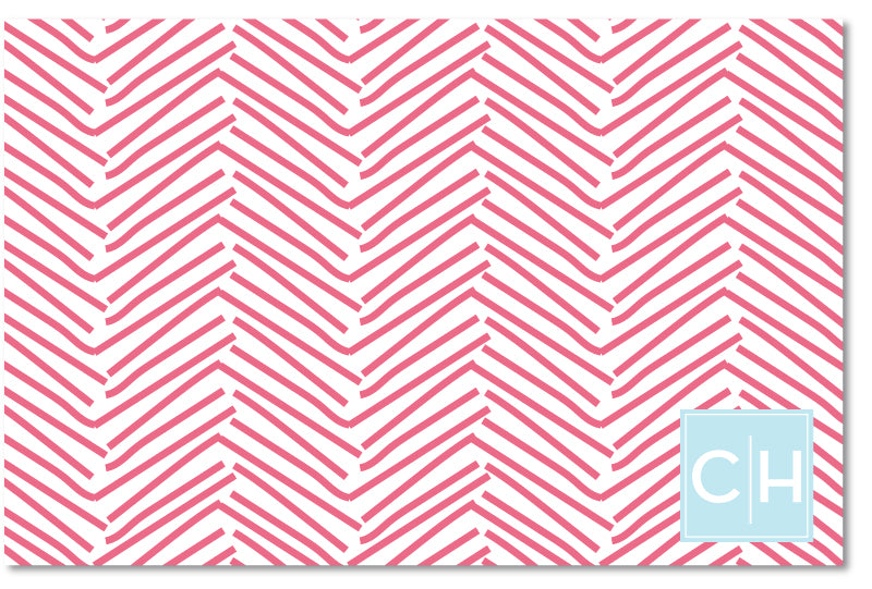 Laminated Placemat - Herringbone Nantucket Red