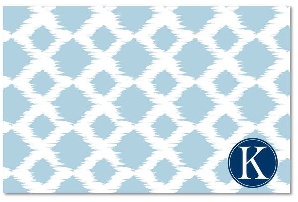 Laminated Placemat - Ikat Blue