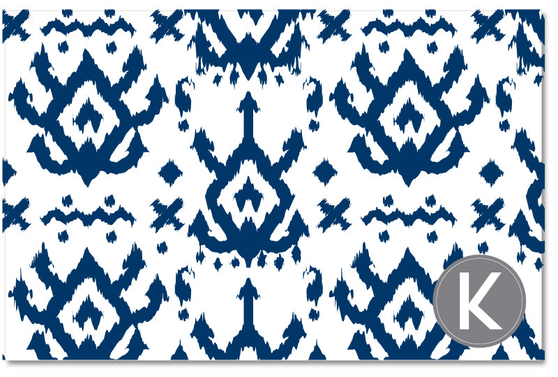 Laminated Placemat - Island Ikat Navy
