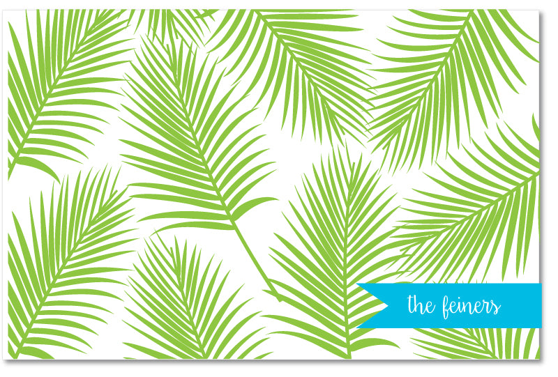 Laminated Placemat - Palm Print