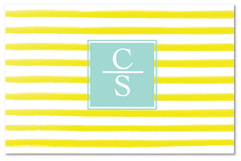Cutting Board - Watercolor Stripes Yellow