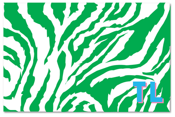 Cutting Board - Zebra Green