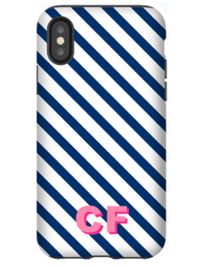 Phone Case - Diagonal Stripes Navy