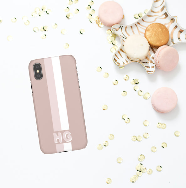Phone Case - Blush Racing Stripe
