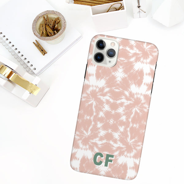 Phone Case - Shibori Tie Dye Blush