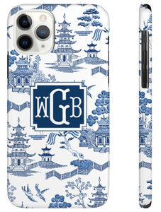 Phone Case - Chinoiserie Toile Blue + White
