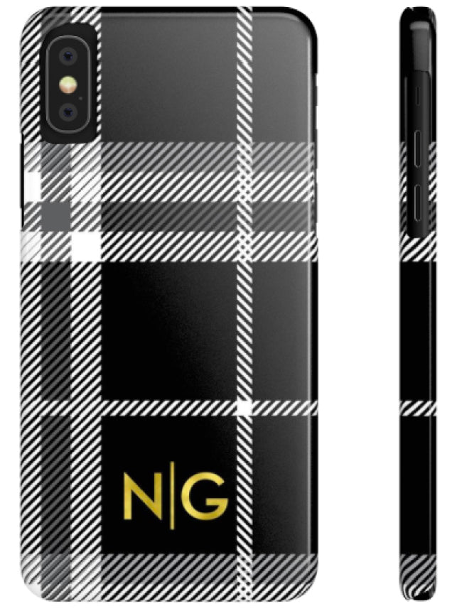 Phone Case - Modern Plaid Black