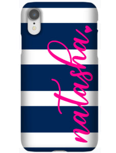 Phone Case - Awning Stripes Navy