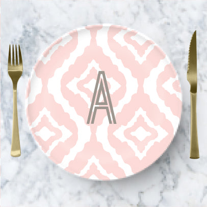 Plate - New Ikat Hot Pink