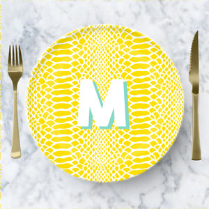 Plate  - Snakeskin Yellow