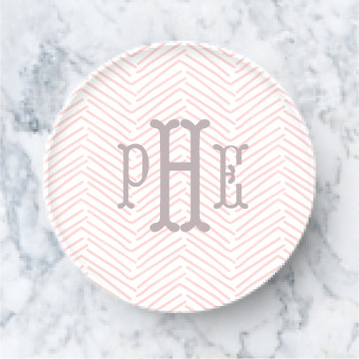 Plate  - Herringbone Blush