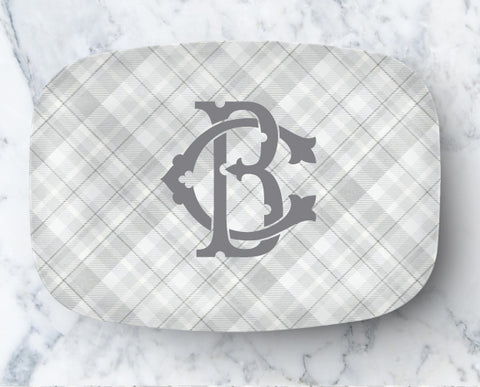 Platter - Chic Grey Plaid