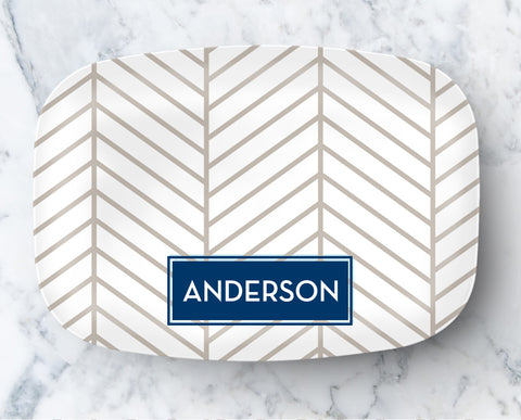 Platter - Herringbone Neutral