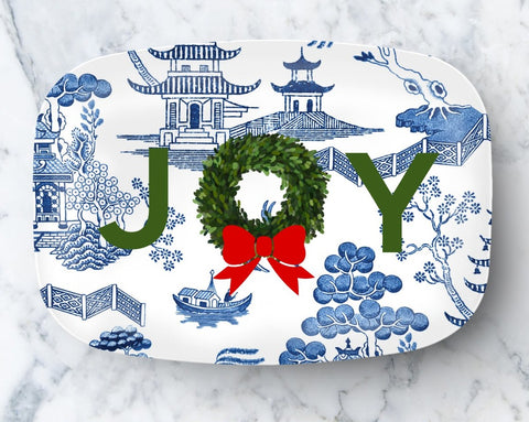 Platter - Holiday Chinoiserie JOY