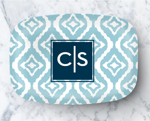 Platter - New Ikat Blue