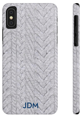 Phone Case - Cable Knit Grey