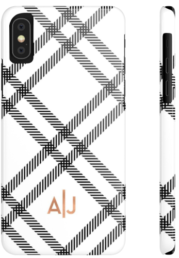 Phone Case - Modern Plaid White