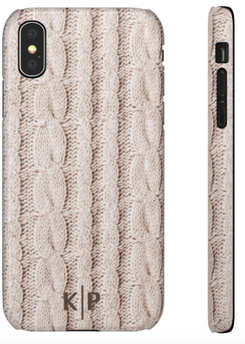 Phone Case - Cable Knit Cream