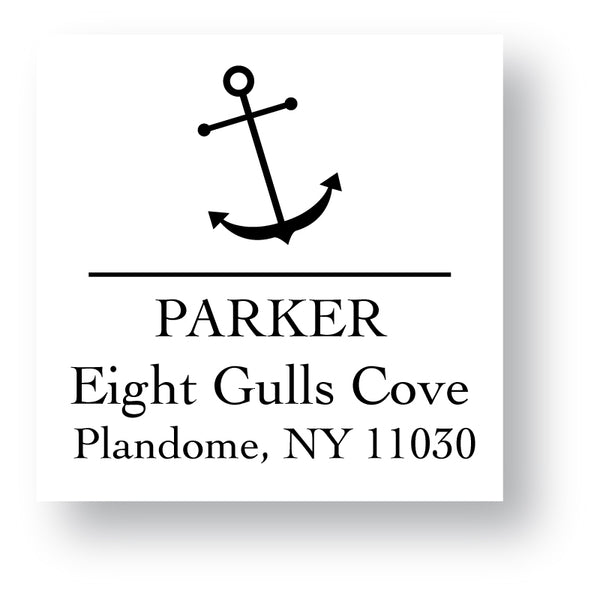 Self Inking Address Stamp - Anchor