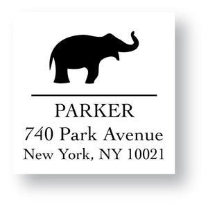 Self Inking Address Stamp - Elephant