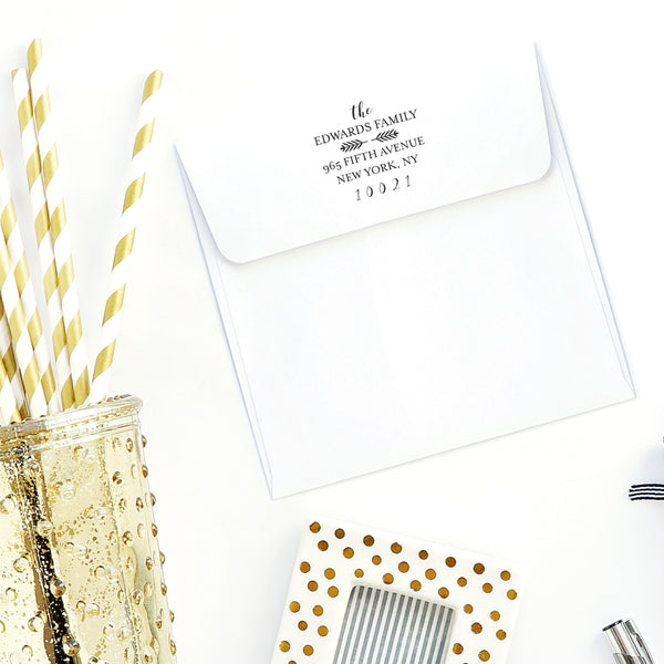 Self Inking Address Stamp - Wheat Accent