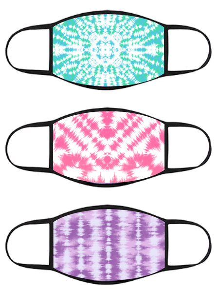 FACE MASK - Three Pack - TIE DYE