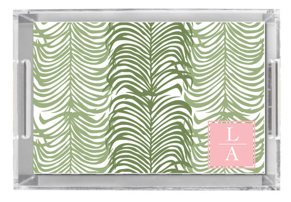 Lucite Tray - Majestic Palm