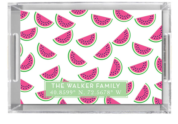 Lucite Tray - Watermelon