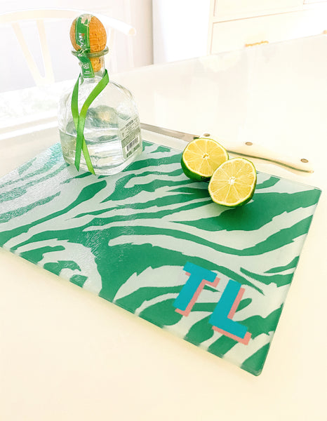 Cutting Board - Woven Green