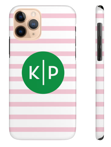 Phone Case - Preppy Stripes Pink