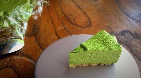 Low Carb No Bake Matcha Cheese Cake