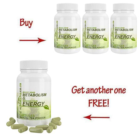 Buy 3 Matcha Bottles get 1 Free