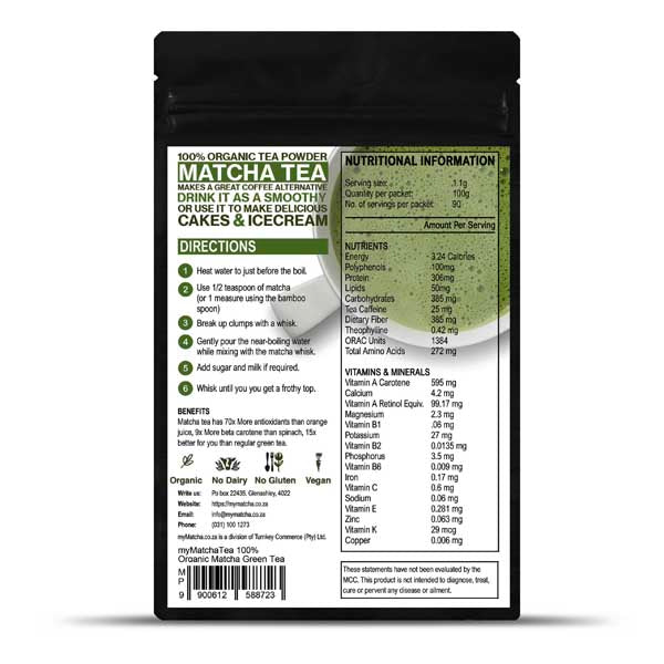 Two Packets of Matcha Green Tea [200g] - Save R70