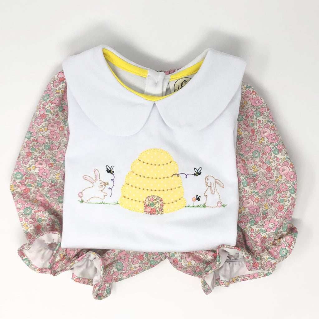 Honey Bunny Applique Girls Top