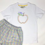 Embroidered Apple Boys T-Shirt