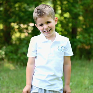 Boys Classic Bee Personalized Collared Shirt