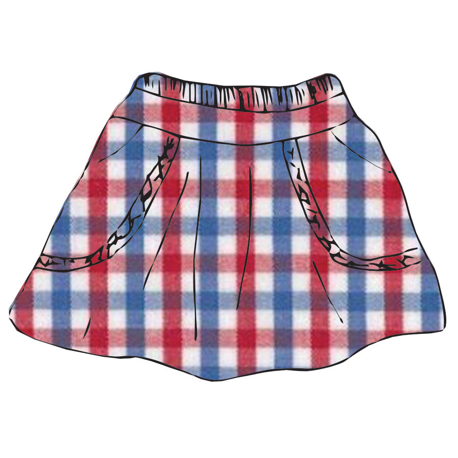 Tri-Check Claire Skirt