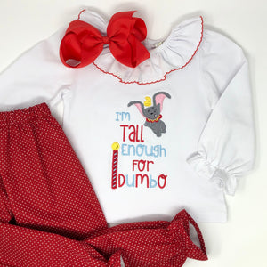 I'm Tall Enough Girls Embroidered Top