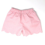 Gingham Emilia Scallop Short