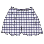 Pima Windowpane Emilia Scallop Short