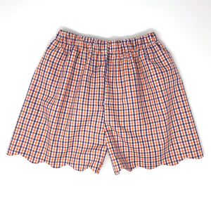 Tri-Check Emilia Scallop Short