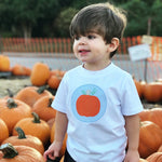 Single Pumpkin Patch Applique Boys T-Shirt
