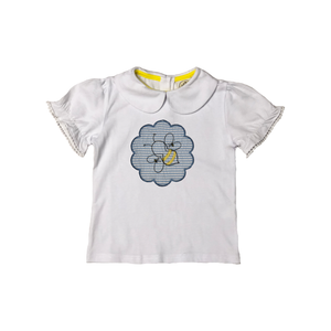 Girls Seersucker Applique with Bee Shirt