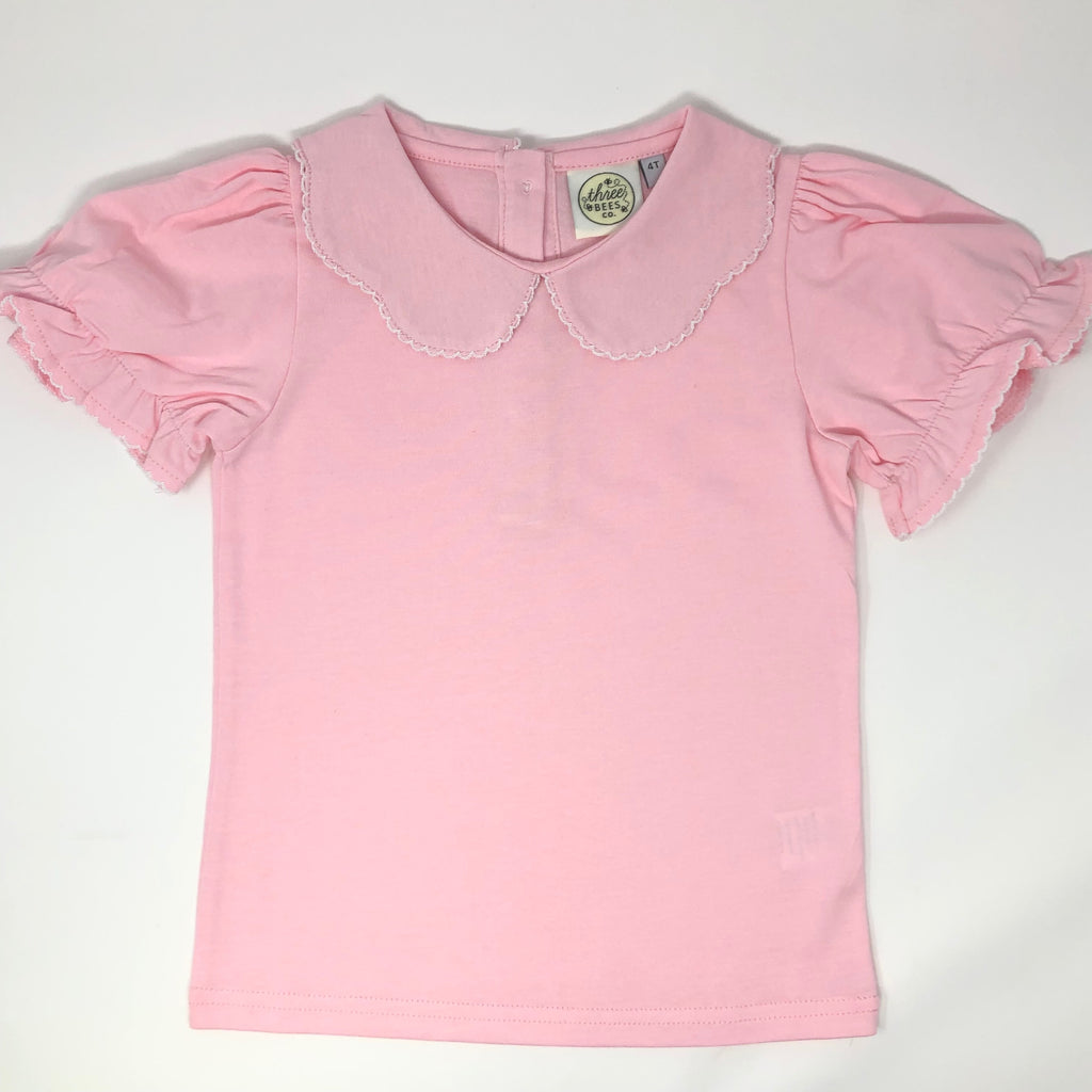 Pink Peter Pan Collared Top